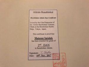 Certyfikat 2 DAN